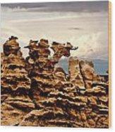 Fantasy Canyon Wood Print