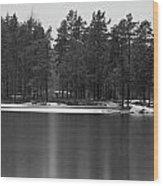 Haukkajarvi First Snow Wood Print