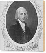 James Madison (1751-1836) Wood Print