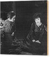 Silent Film Still: Women Wood Print