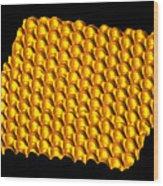 Spintronics Research, Stm Wood Print by Drs A. Yazdani & D.j. Hornbaker