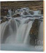 Waterfall Iceland Wood Print