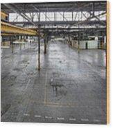 An Empty Industrial Building In Los Wood Print