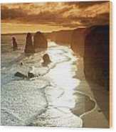 12 Apostles At Sunset Wood Print