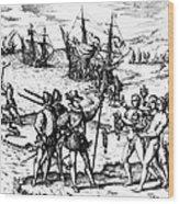 Christopher Columbus Wood Print by Granger