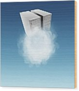 Cloud Computing, Conceptual Artwork Wood Print