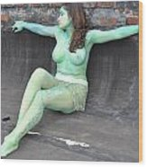 Kasper Body Painting Wood Print