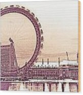 London Eye Art Wood Print