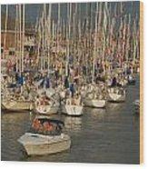 Port Huron To Mackinac Island Race Wood Print
