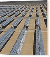 Solar Power Plant, California, Usa Wood Print