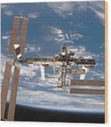 The International Space Station Wood Print