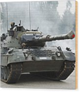 The Leopard 1a5 Of The Belgian Army Wood Print