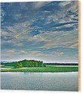 1206-9119 Arkansas River At Spadra Park  Wood Print