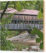 12690 Albany Covered Bridge Wood Print