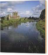 12th Century Trim Castle, On The River Wood Print