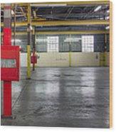 An Empty Industrial Building In Los Wood Print by Dan Kaufman