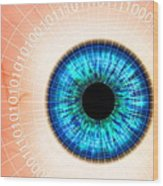Biometric Eye Scan Wood Print by Pasieka