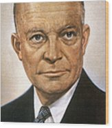Dwight D. Eisenhower Wood Print