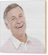 Happy Senior Man Wood Print