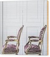 Luxury Antique Chair. Wood Print