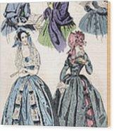 Womens Fashion, 1842 Wood Print