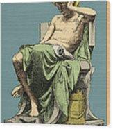 Aristotle, Ancient Greek Philosopher Wood Print