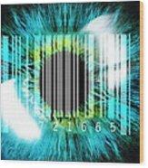 Biometric Eye Scan Wood Print