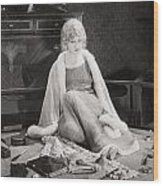 Silent Film Still: Woman Wood Print