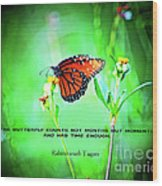 14- The Butterfly Wood Print
