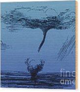 Waterspout Wood Print