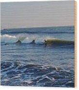 Surfers Make The Ocean Better Series Wood Print
