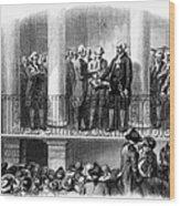 Washington: Inauguration Wood Print