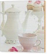 Afternoon Tea Wood Print