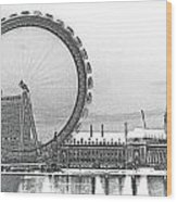 London Eye Art Wood Print
