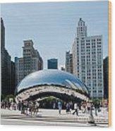 Chicago City Scenes Wood Print