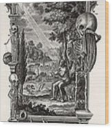 1731 Johann Scheuchzer Creation Of Man Wood Print