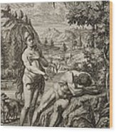 1731 Scheuchzer Creation Adam's Rib & Eve Wood Print by Paul D Stewart