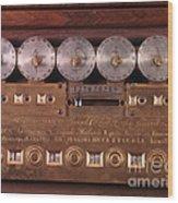 17th Century Calculating Machine Wood Print