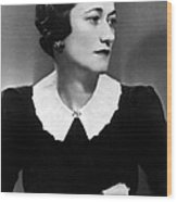 Duchess Of Windsor Wallis Simpson Wood Print by Everett