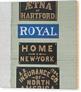 1825 Insurance Agency Wood Print