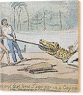 1826 Naturalist Charles Waterton & Caiman Wood Print