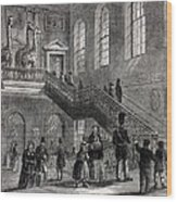1830 Montagu House Natural History Museum Wood Print