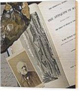 1863 Lyell's Antiquity Of Man Desktop. Wood Print