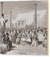 1866 Classroom Of Zion School Wood Print