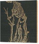 1868 Waterhouse Hawkins & Hadrosaur Gilt Wood Print