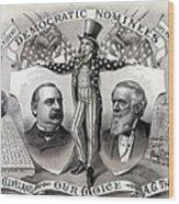 1888 Democratic Presidential Campaign Wood Print