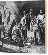 1898 Artwork Of Nativity Scene At Nativity Church Wood Print