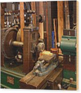 18th Century Machine Shop Wood Print by Judi Quelland
