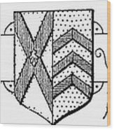 Oxford: Coat Of Arms Wood Print