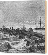 Suez Canal Construction Wood Print by Granger